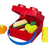 LEGO Ланч-Бокс квадратный синий, красный, фиолетовый, салатовый с ручкой