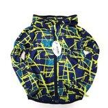 Демисезонная детская куртка ветровка для мальчика абстракция 2-6 лет 8803-2