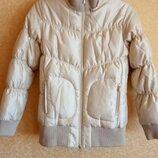 Очень тёплая зимняя куртка золотая/fila/оригинал/супер цена