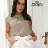 Блуза женская без рукавов Мотылёк