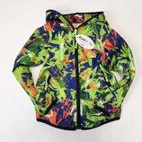 Демисезонная детская куртка ветровка для мальчика салатовая 2-6 лет 0001-2