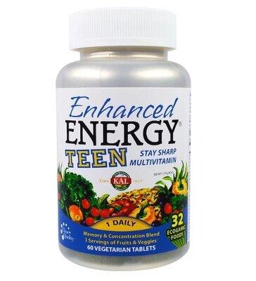 KAL Мультивитамины для подростков. Энергия, память, концентрация, 60 шт. Сша