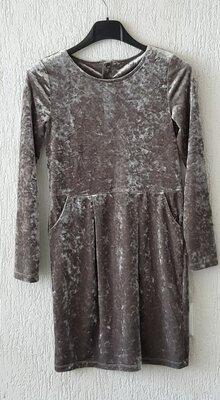 Плаття велюрове з переливом для дівчинки 8-10 років