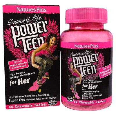 Nature´s Plus. Мультивитамины подростку, для девочки. 60 шт. Сша
