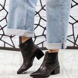 Код 7009 Элитная коллекция Демисезонные ботинки- казаки Натуральная итальянская кожа Внутри флис В