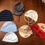 Набор пакет шапки паники на мальчика 6-24 месяца