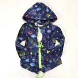 Демисезонная детская куртка ветровка для мальчика синяя 3-7 лет 1837-1