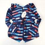 Демисезонная детская куртка ветровка для мальчика синяя 2-7 лет 9801-1
