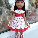 Очень красивое платье для куклы Паола Рейна. На рост 30-35 см