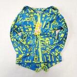 Демисезонная детская куртка ветровка для мальчика голубая буквы 2-6 лет 706-2