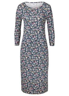 Платье т.синее в мелкий цветочек р.54/56.bpc новое.