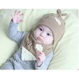 Детский комплект шапка и хомут-манишка
