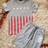Летний костюм комплект для мальчика. Шорты и футболка. Венгрия. 140р.