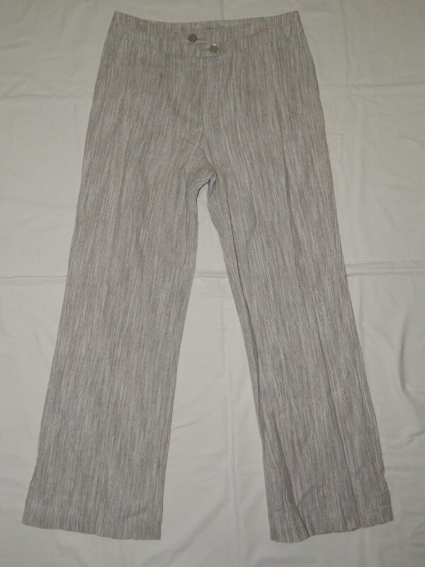 Летние светло-серые женские брюки M&S Per Una. Размер 10.