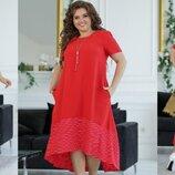 Платье полька Ткань лен жатка ролекс ,не тянется Длина изделия переда 110,длина спинки 126. Длина