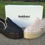 Слипоны Baldinini Trend Италия, оригинал. Натуральная кожа, кружево. 36-40