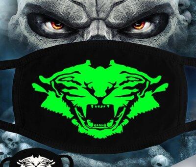 Зимняя защитная маска на лицо со светящимся в темноте рисунком
