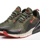 Подростковые кроссовки Nike Air Max 270 Olive / Black оливковые с черным