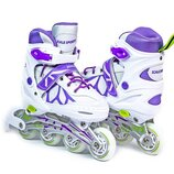 Ролики Scale Sports Бело-Фиолетовые размер 29-33,34-37,38-41