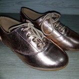 Туфельки ZARA 27 размера золотистые