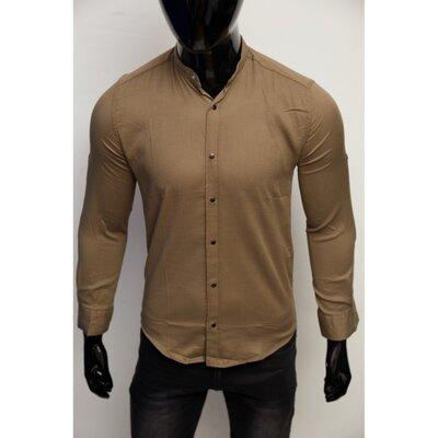 Рубашка мужская котоновая Figo 7088-3 хаки