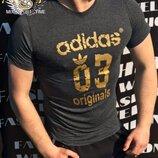 Мужская футболка Adidas Адидас DP-5115 в расцветках.