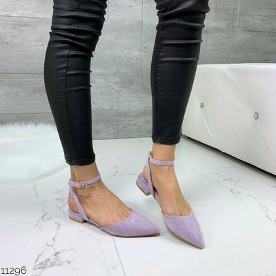 Продано: Женские фиолетовые сиреневые лиловые босоножки с закрытым острым носком