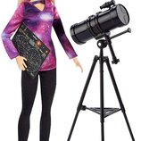 Кукла Барби Астрофизик Barbie Astrophysicist National Geographic Doll с телескопом астролог оригинал