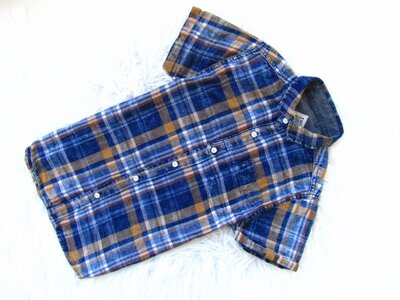 Стильная и качественная Рубашка с коротким рукавом Next Специально потертая