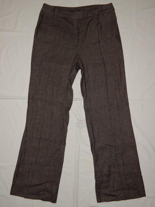 Светло-Коричневые женские брюки M&S. Размер 10 М . Италия.