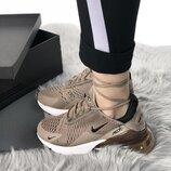 Коричневые женские кроссовки nike air max 270