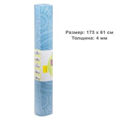 Йога мат узор 4 мм Коврик для йоги бирюзовый BT-SG-0004