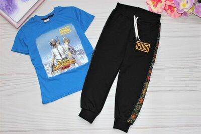 Детский крутой спортивный костюм штаны и футболочка