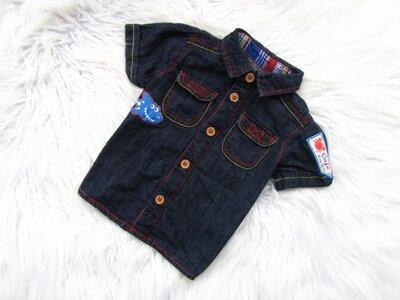 Стильная и качественная джинсовая Рубашка с коротким рукавом George