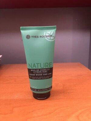 -55% мужской гель для тела и волос шампунь Кедр и Зеленый Лимон ив роше nature ів роше