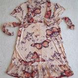 Платье с бабочками вискоза, длина 80 см.