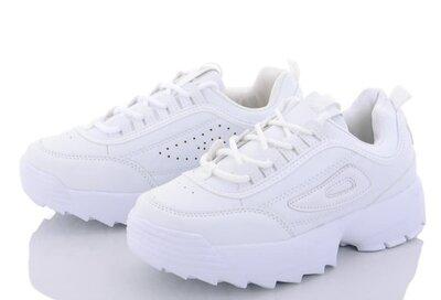 Кроссовки на толстой массивной подошве черные, белые 29,30,31,32,33,34,35,36,37,38,49,40,41 filа кие