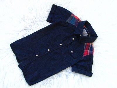 Стильная и качественная джинсовая Рубашка с коротким рукавом Rebel