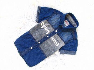 Стильная и качественная джинсовая Рубашка с коротким рукавом Tom & Jo