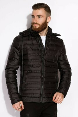 Мужская демисезонная весенняя чёрная куртка чоловіча демісезонна чорна весняна куртка