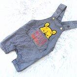 Крутой джинсовый Полукомбинезон песочник Disney