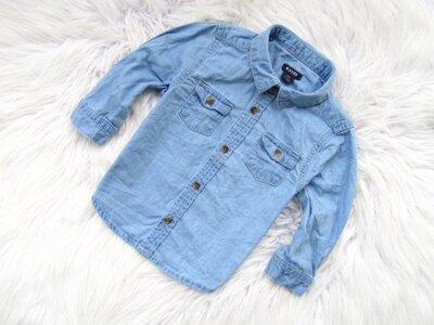 Качественная и стильная джинсовая рубашка Kiabi