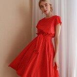 Красивое платье в горохе четыре расцветки