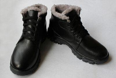 Зимние мужские ботинки натуральная кожа от производителя