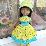 Яскрава літня сукня та капелюшок одяг для лялечки Паола Рейна Paola Reina