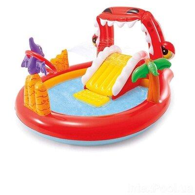 Надувной игровой центр с бассейном Счастливый Дино Intex