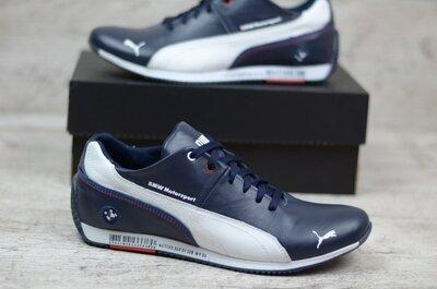 Мужские кожаные кроссовки Puma BMW синие