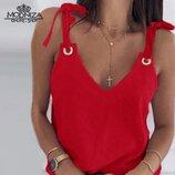 новая 42-44 и 46-48 красная черная беж белая майка топ на лето біла чорна червона майка була топ з з