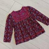 велюровая кофта, рубашка для девочки на 4-5 лет.