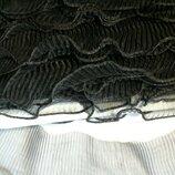 Рюш капроновый гофрированный оборка шир 5,5 см черный
